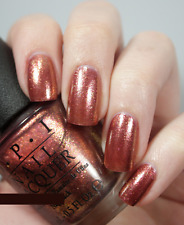 OPI Mariah Carey SPRUNG Copper Rose Gold Glitter Shimmer Nail Polish Lacquer M42