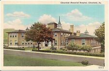Clearfield Memorial Hospital in Clearfield PA Postcard