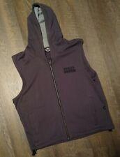 Harley Davidson Vest Hoodie Sleeveless Jacket Full Zip Mens M Medium Dark Grey🔥