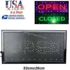 "From Usa 2in1 Open&Closed Bright Led Sign Store Shop Display Neon 9.8*20.47"" 8W"