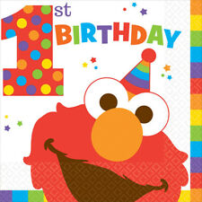 Sesame Street 1st Birthday Party Supplies ELMO LUNCH NAPKINS Pack Of 16