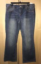 Tommy Hilfiger Women's Freedom Classic Bootcut Blue Denim Jeans Sz 16R Inseam 32