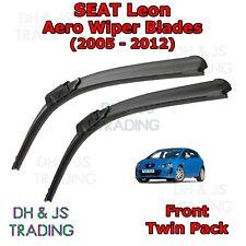 (05-12) Seat Leon Aero Wiper Blades / Front Windscreen Flat Blade Wipers MK2