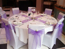 150x Lilac Organza Sheer Chair Sashes Wedding Banquet Ceremony Party Decoration