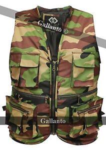 Military Camouflage Hunter Fisherman's Multi Pocket Mens Womens Vest Waiscoat