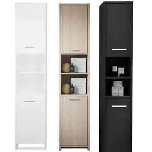 Wooden Bathroom Cabinet Cupboard Storage Unit Stand Door Tall Shelf Tallboy 6FT