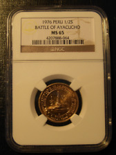 Peru 1976 Gold 1/2 Sol NGC MS-65 Battle of Ayacucho