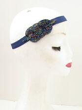 Navy Blue Great Gatsby Flapper Headband 1920s Headpiece Hair Band Vintage Y47