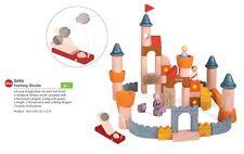 Plan Toys FANTASY BLOCKS - NEW Christmas Gift Castle Horse King Queen 60 Blocks