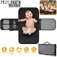 Baby Portable Foldable Diaper Changing Pad Travel Waterproof Mat Bag Storage Hot