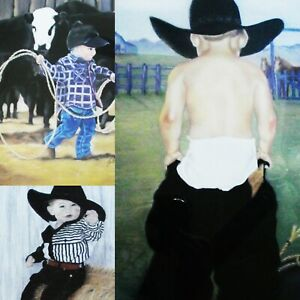 (3) LITTLE COWBOY LITHOGRAPHS LIMITED EDITION #175/315 HAND SIGNED MAT NO FRAME