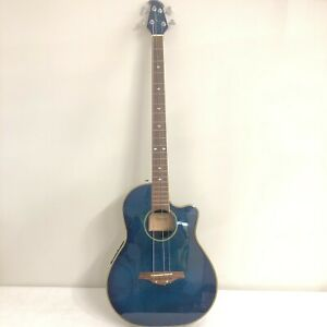 Tanglewood TMO-B2 Electro Acoustic Bass Guitar 4 String Blue + Case 18127 CP