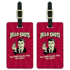 Jello Shot Other Favorite Thing Jiggles Luggage ID Tags Cards Set of 2