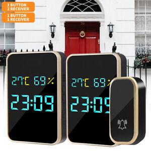 Wireless Doorbell Range Door Bells Waterproof Doorbell Cordless Self-powered