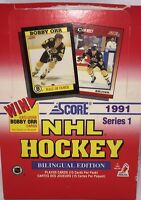 1991-92 Score Series 1 Hockey Bilingual Unopened Box English 36 Packs