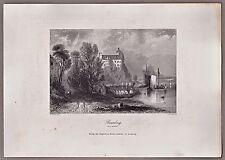 Persenbeug-Gottsdorf Niederösterreich - Stich, Stahlstich von A.H.Payne 1846