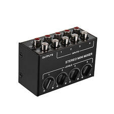 Mini Stereo Audio Mixer with 4-Channel RCA Inputs Separate Volume Controls Y2K5