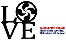"Lauburu Love Symbol Jdm Funny Vinyl Decal Sticker Car Window Bumper Laptop 6"""