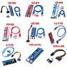 PCI-E Riser Card 1x to 16x USB 3.0 VER 008C 007S 008S 009S BTC Mining Board Lot