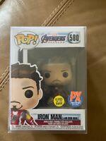 Funko POP I am Iron Man Tony Stark Avengers Endgame PX Previews Exclusive #580