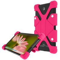 Coque tablette 8.9 à 12 pouces Universel Bumper Silicone Gel rose Mode Support