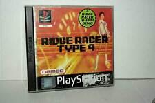 RIDGE RACER TYPE 4 GIOCO USATO OTTIMO SONY PSONE VERSIONE TEDESCA DM1 42869