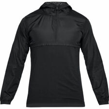 NWT Mens Under Armour UA Wind Anorak Jacket Pullover Black XL MSRP $60