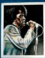 "James Brown Art Print ""Cold Sweat""  Art Signed Larry Denson"