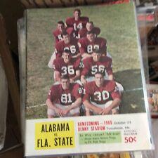 Alabama Football Program 1965 Condition = NMT