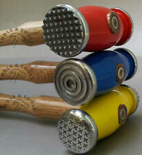 Coloured 3 Pcs Texturing Hammers Double Sided 6 Pattern Jewellery Metal REPOUSSE