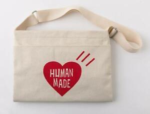 HUMAN MADE shoulder bag human made 2WAY bag color white cotton material New item