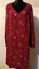 NWT Old Navy XXL purple Floral Print V-Neck Tunic Top long Sleeves
