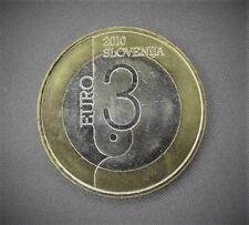 EURO - SLOVÉNIE - 3 EUROS UNC 2010 - CAPITAL MONDIALE DU LIVRE DE L UNESCO