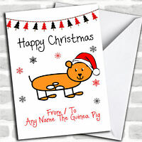 From Or To The Guinea Pig Pet Christmas Customised Card
