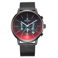 REWARD Men Date Fashion Quartz Waterproof Analog Mesh Calendar Multicolor Watch