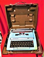 """""""SERVICED"""" SMITH CORONA SUPER STERLING ELECTRIC TYPEWRITER W CASE/KEY/MANUAL"""