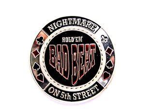 "Pokerguard Poker Card Guard ""Bad Beat"" silber Pokerzubehör"