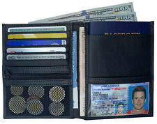 RFID Blocking Genuine Leather Travel Passport Wallet Holder