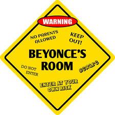"""*Aluminum* Beyonce's Room Kids Room Door 12""""x12""""  Metal Novelty Sign"""