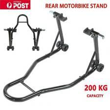 Heavy Duty Steel Motorcycle Motorbike Rear Stand Paddock Race Lift Under Fork