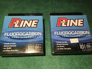 P-Line Flourocarbon Fishing Line 2pk-10lb