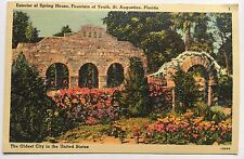 Exterior of Spring House Fountain of Youth St. Augustine FL Tichnor Linen 60866