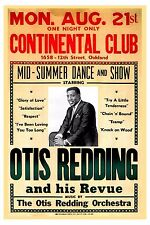 Soul: Otis Redding at  The Continental Club in Oakland Concert Poster 1967