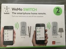 Belkin WeMo Wireless WiFi Light Control Outletswitch 2-Pack Model F5Z0432 New
