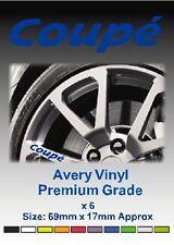 Coupe de aleación rueda pegatinas de vinilo-gráficos X 6