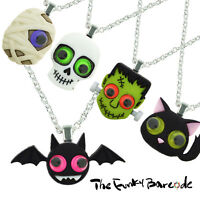 TFB - FRIGHT NIGHT HALLOWEEN PENDANT NECKLACE Quirky Novelty Goth Fancy Dress