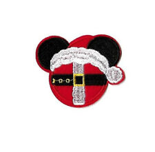 Mickey Mouse - Disney - Santa - Christmas - Embroidered Iron On Applique Patch