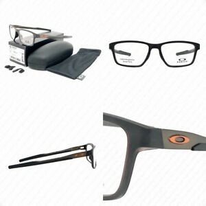 Authentic Oakley Metalink OX8153-0255 Matte Amber w/Demo Eyeglasses 55-17-136