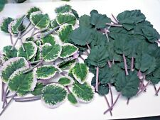 90 Artificial African Violet Leaves. Silk Flowers Crafts