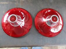 1961 FORD GALAXIE 500 TAIL LIGHT LENS PAIR SAE-STDB-61 NOS GLO-BRITE OEM